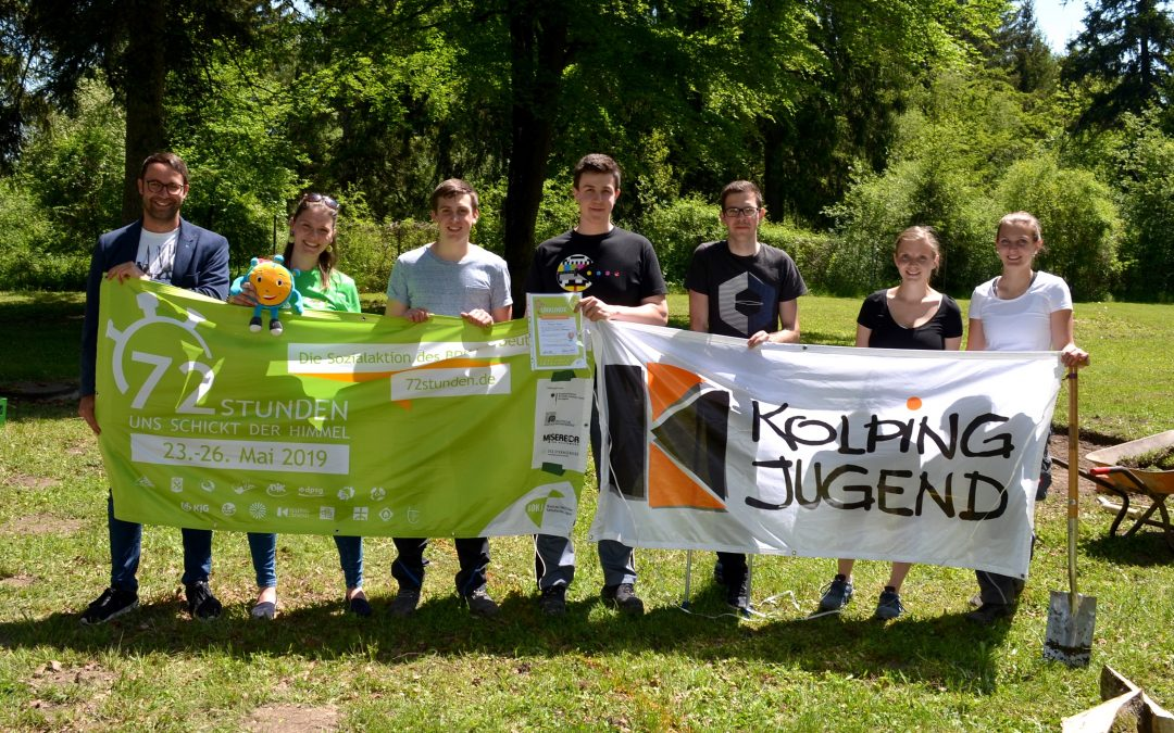 Bobinger Kolpingjugend gestaltet Naturlehrgarten