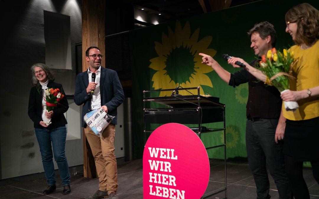 Impressionen vom Wahlkampfauftakt mit Robert Habeck
